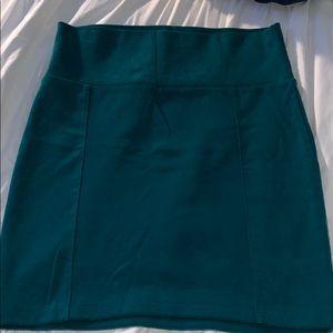 Sea foam green mini pencil skirt